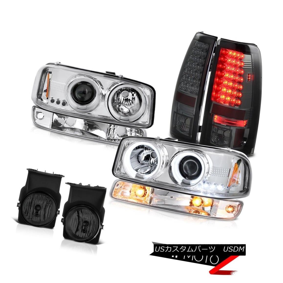 テールライト 2003-2006 Sierra 5.3L Smoked fog lights taillamps signal lamp ccfl headlights 2003-2006シエラ5.3Lスモークフォグライトテールランプ信号ランプccflヘッドライト