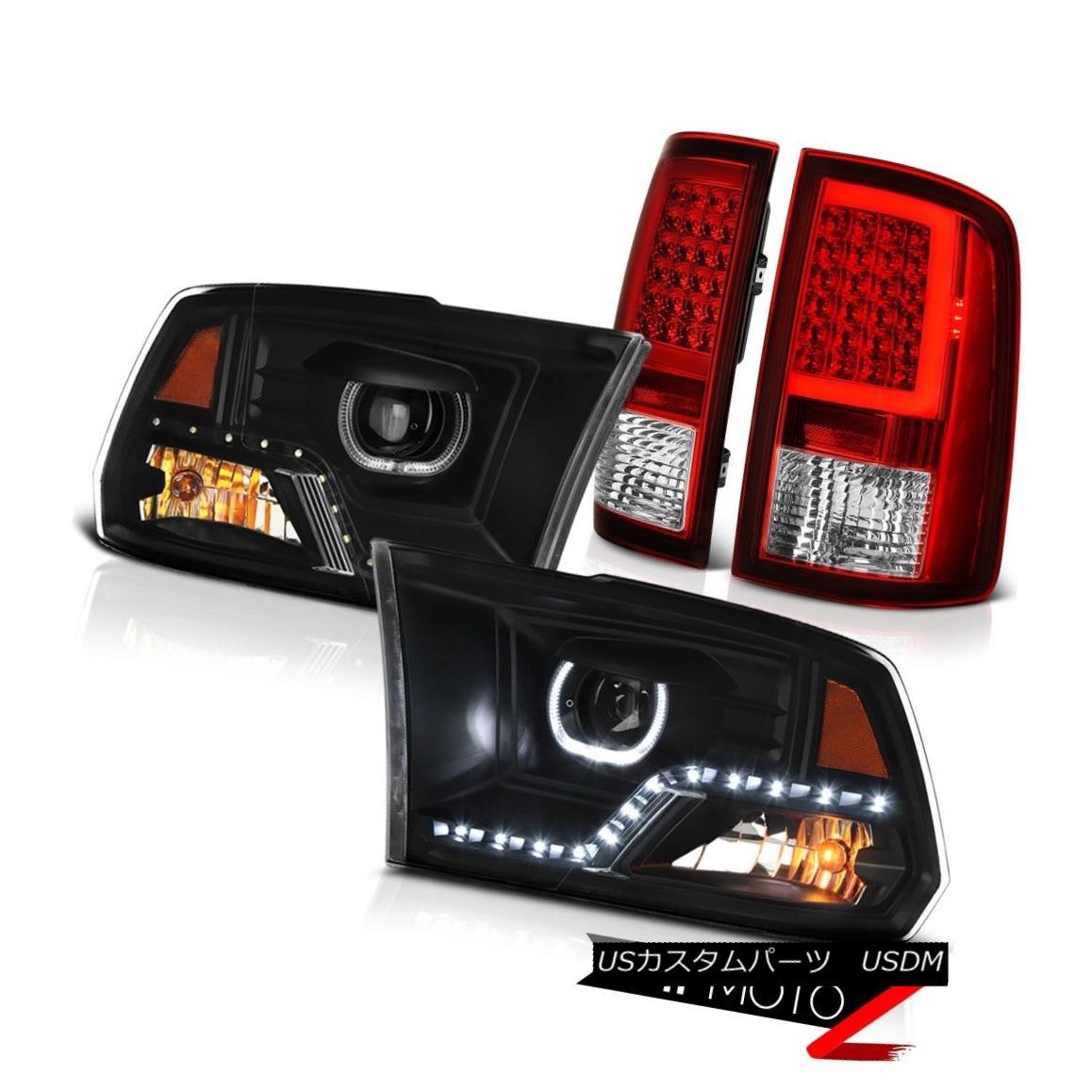 テールライト 09 10 11-18 Dodge RAM 1500 2500 Wine Red Led Bar Tail Light Headlamp SET PAIR 09 10 11-18ダッジRAM 1500 2500ワインレッドLEDバーテールライトヘッドランプSET PAIR