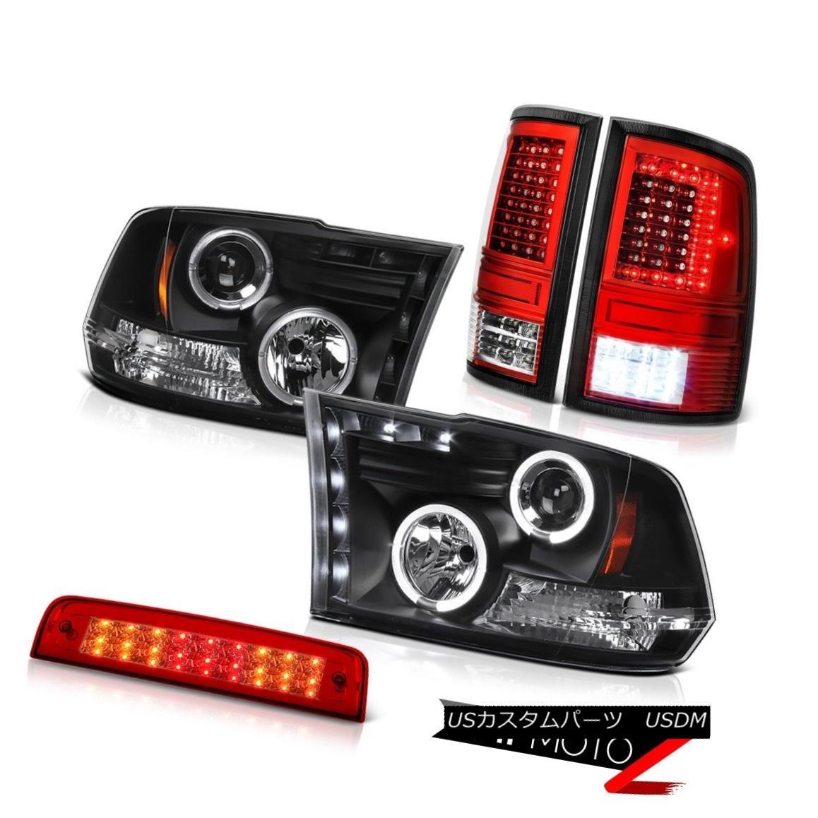 テールライト 09 10 11-18 Dodge RAM 3500 Red Tail Lamp 3rd Brake Light Projector Head Assembly 09 10 11-18ダッジRAM 3500レッドテールランプ第3ブレーキライトプロジェクターヘッドアセンブリ