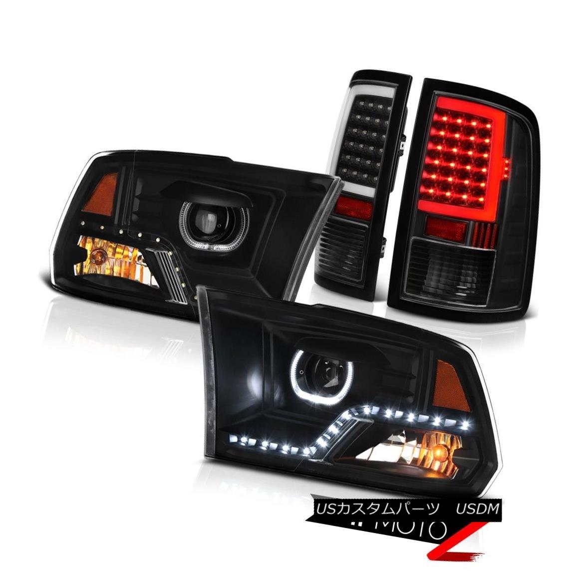 テールライト 10 11 12 13-18 Dodge RAM 1500 2500 3500 Black Tail Lamps Headlights Replacement 10 11 12 13-18ダッジRAM 1500 2500 3500ブラックテールランプヘッドライトの交換