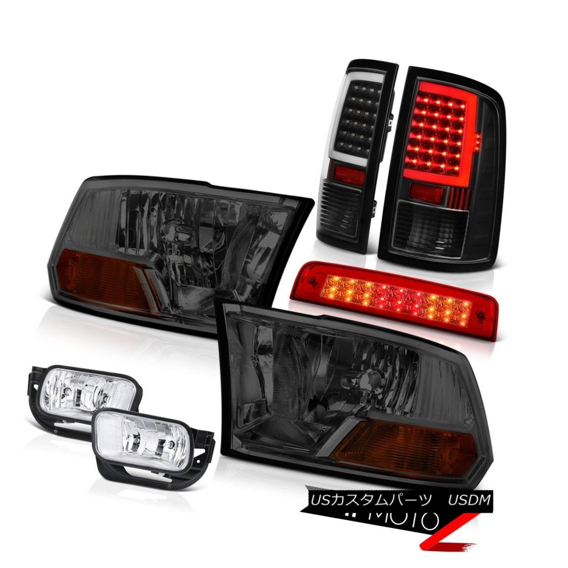 テールライト 09 10 11-18 Dodge RAM 3500 Tail Lights Brake Fog Lamps Factory Style Headlight 09 10 11-18 Dodge RAM 3500テールライトブレーキフォグランプ工場風ヘッドライト