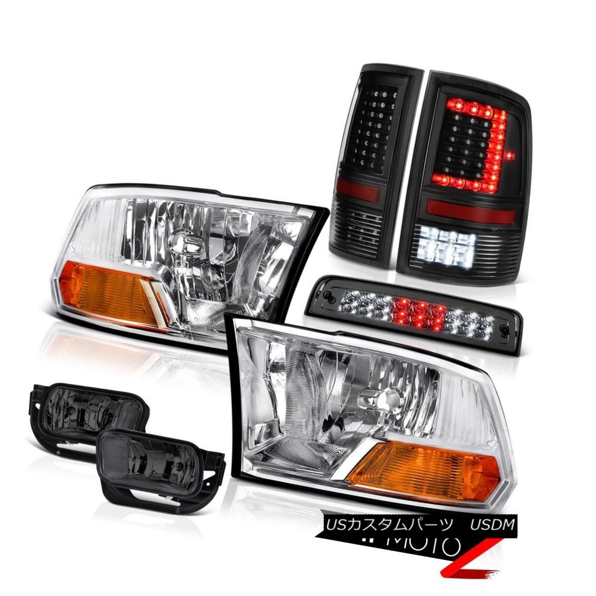 テールライト 09-11 12 13 Dodge RAM 1500 2500 3500 Tail Light Fog Brake Factory Style Headlamp 09-11 12 13ダッジRAM 1500 2500 3500テールライトフォグブレーキ工場スタイルヘッドライト