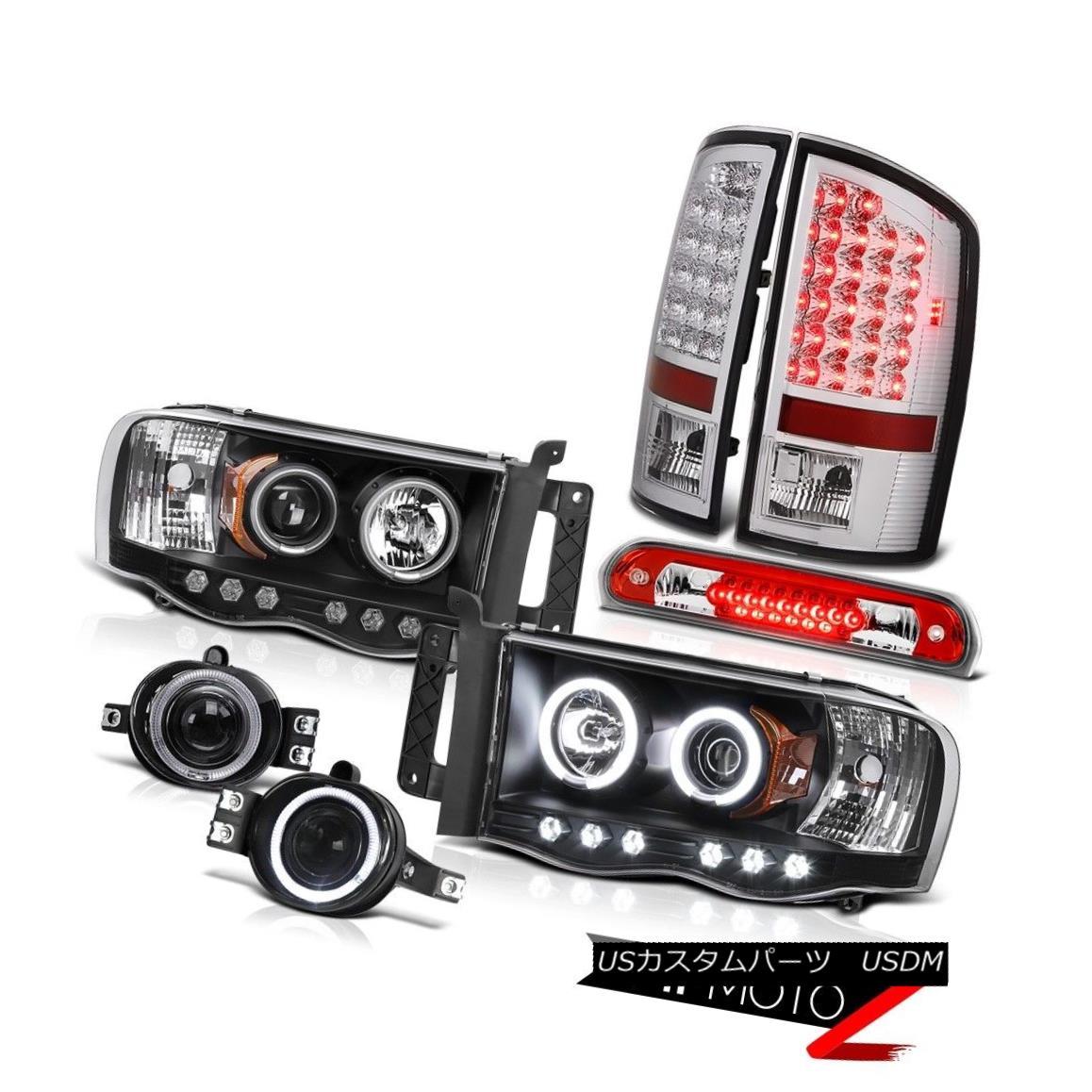 テールライト 02 03 04 05 Ram SLT CCFL Projector Headlights LED Tail Lights Halo Fog RED Brake 02 03 04 05 Ram SLT CCFLプロジェクターヘッドライトLEDテールライトHalo Fog RED Brake