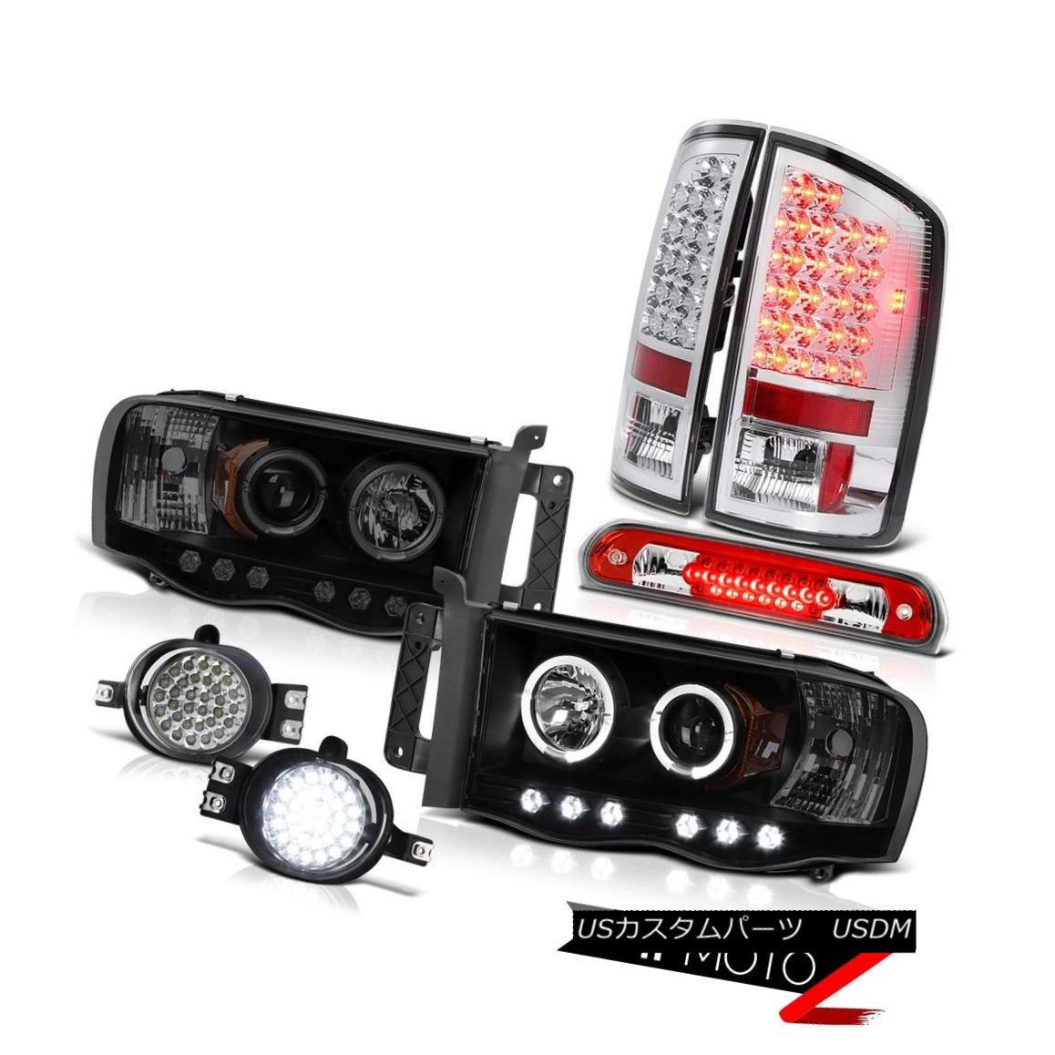 テールライト 02-05 Ram V6 SMD DRL Headlamps Rear Tail Lights LED Driving Fog Red Third Brake 02-05 Ram V6 SMD DRLヘッドランプリアテールライトLED駆動フォグレッド第3ブレーキ