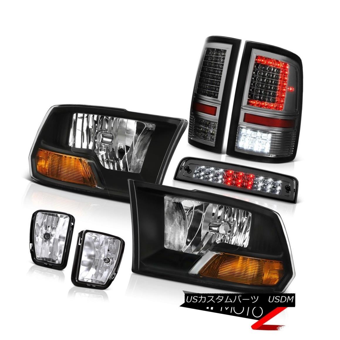 テールライト 13-18 RAM 1500 Smokey Tail Lamps Brake Lights Fog Lamp Factory Style Headlight 13-18 RAM 1500スモーキーテールランプブレーキライトフォグランプ工場スタイルヘッドライト