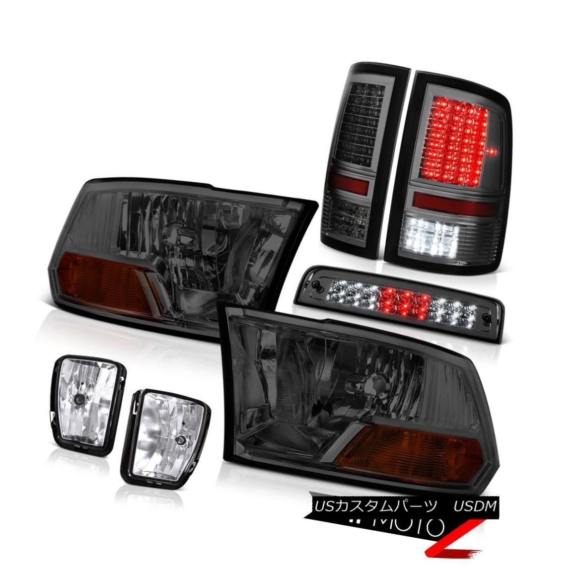 テールライト 13-18 Ram 1500 SLT Tail Lights Third Brake Lamp Fog Headlamps SMD Replacement 13-18ラム1500 SLTテールライト第3ブレーキランプフォグヘッドランプSMD交換