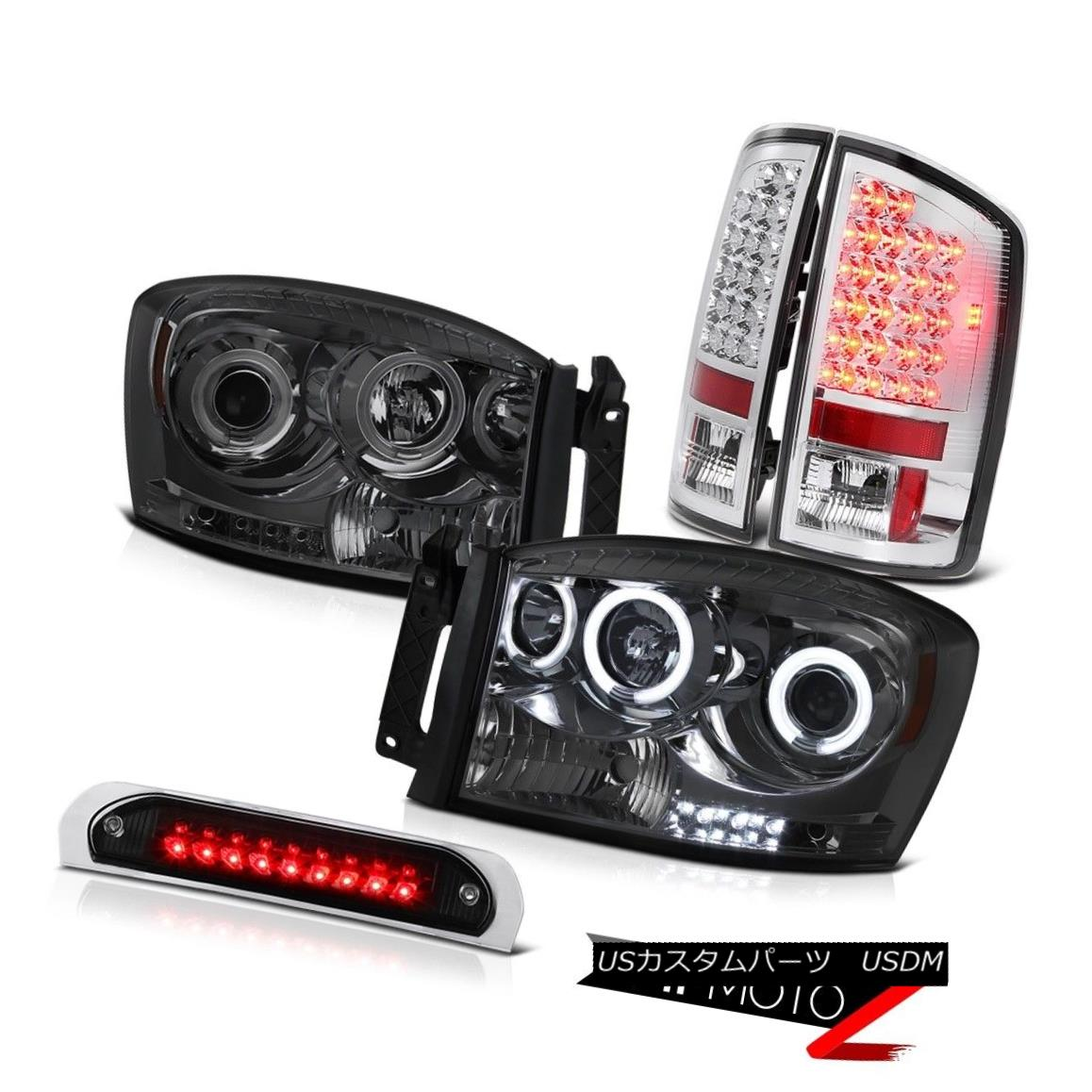 テールライト Smoke CCFL Halo Headlights Chrome LED Tail Lamps Black 3rd Brake 2006 Ram SLT Smoke CCFL HaloヘッドライトクロームLEDテールランプブラック3rdブレーキ2006 Ram SLT