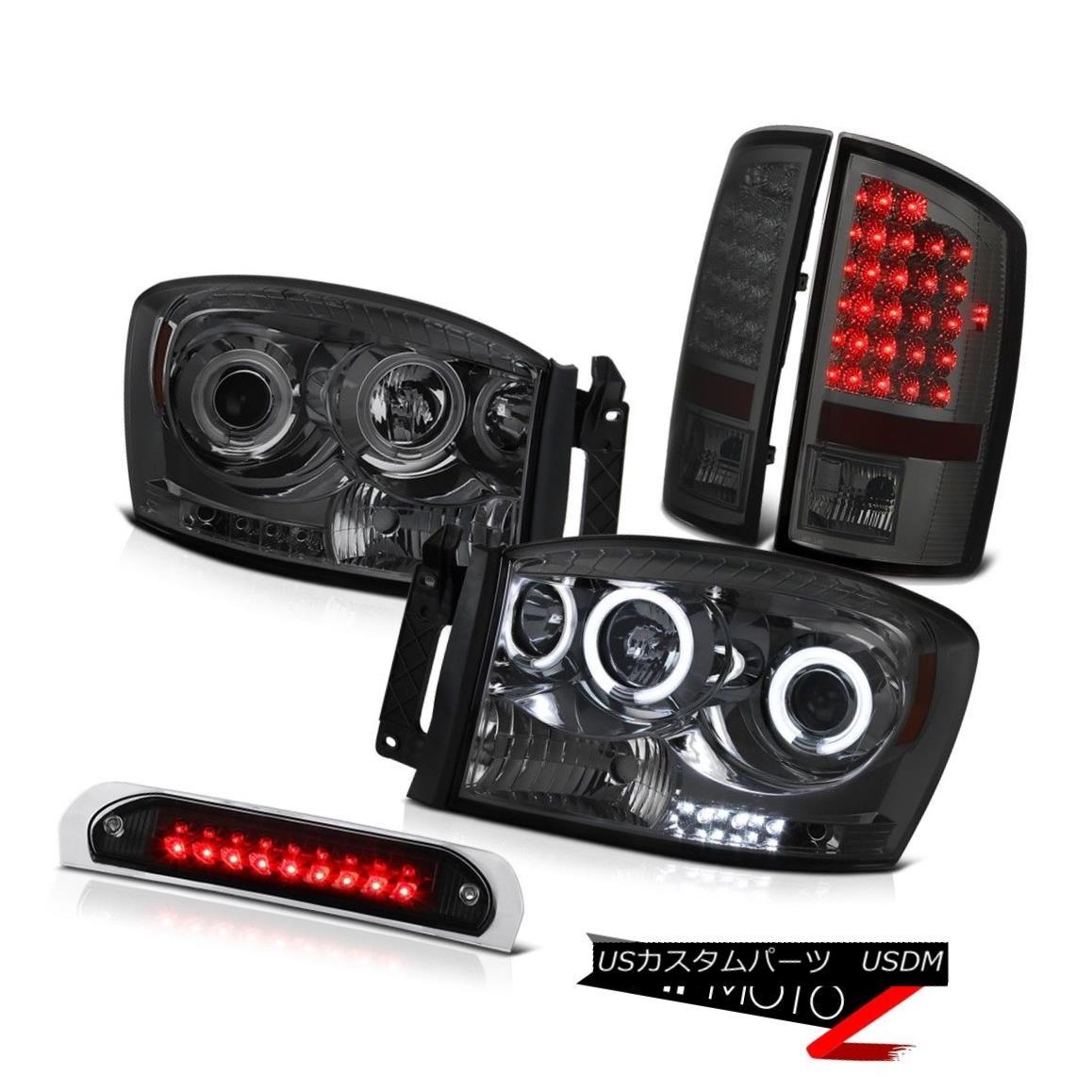 テールライト Devil's Eye CCFL Halo Headlights Signal Tail Lights Black 3rd LED 2006 Ram 2500 悪魔の目CCFL Haloヘッドライト信号テールライトブラック第3 LED 2006 Ram 2500