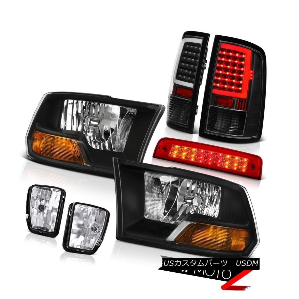 テールライト 13 14 15 16-18 Dodge RAM 1500 Tail lamp Brake Fog Factory Style Headlights PAIR 13 14 15 16-18ダッジRAM 1500テールランプブレーキフォグ工場スタイルヘッドライトペア