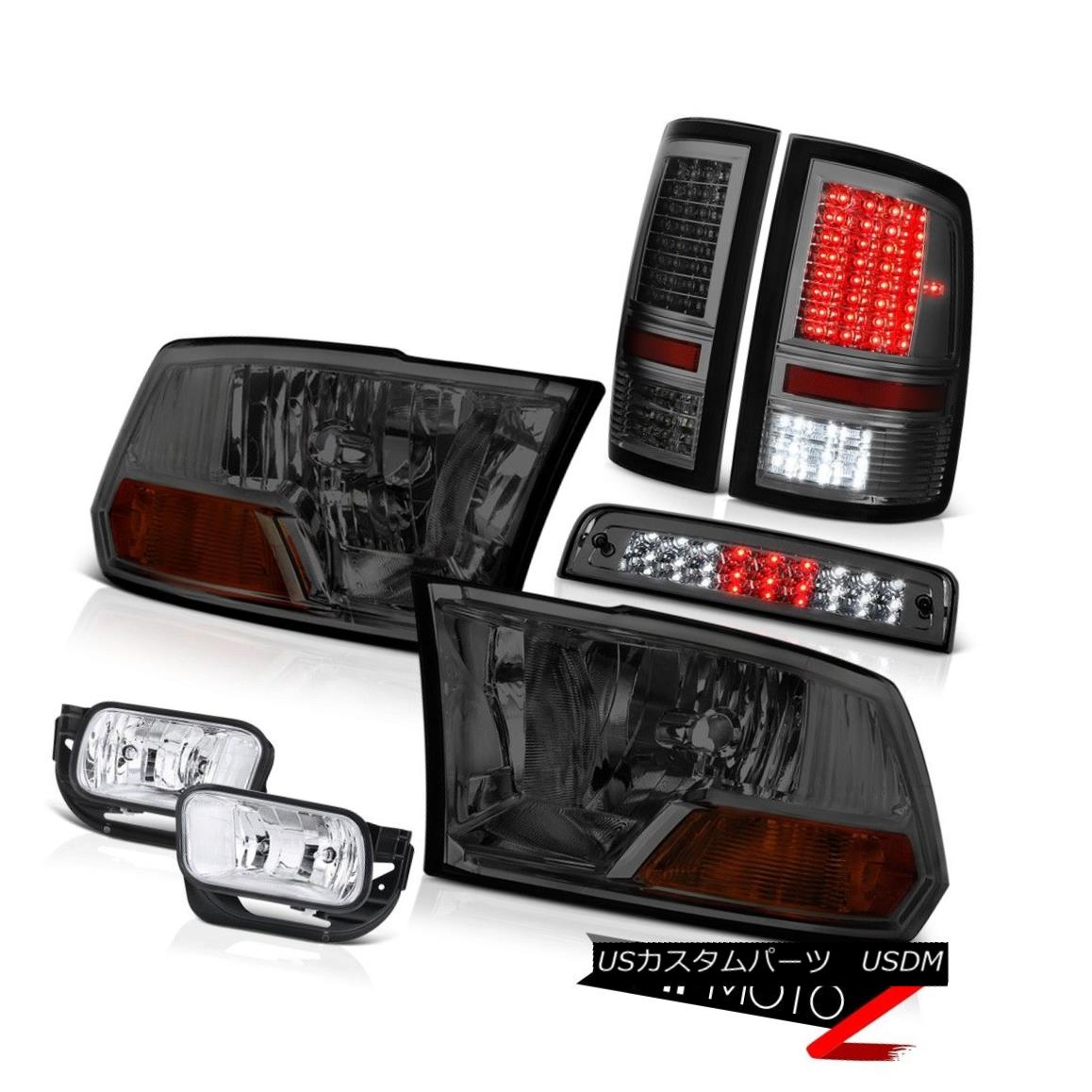 テールライト 2010-2018 Ram 3500 5.7L Tail Lights Chrome Foglights Roof Cab Light Headlights 2010-2018 Ram 3500 5.7LテールライトChrome Foglightsルーフキャブライトヘッドライト