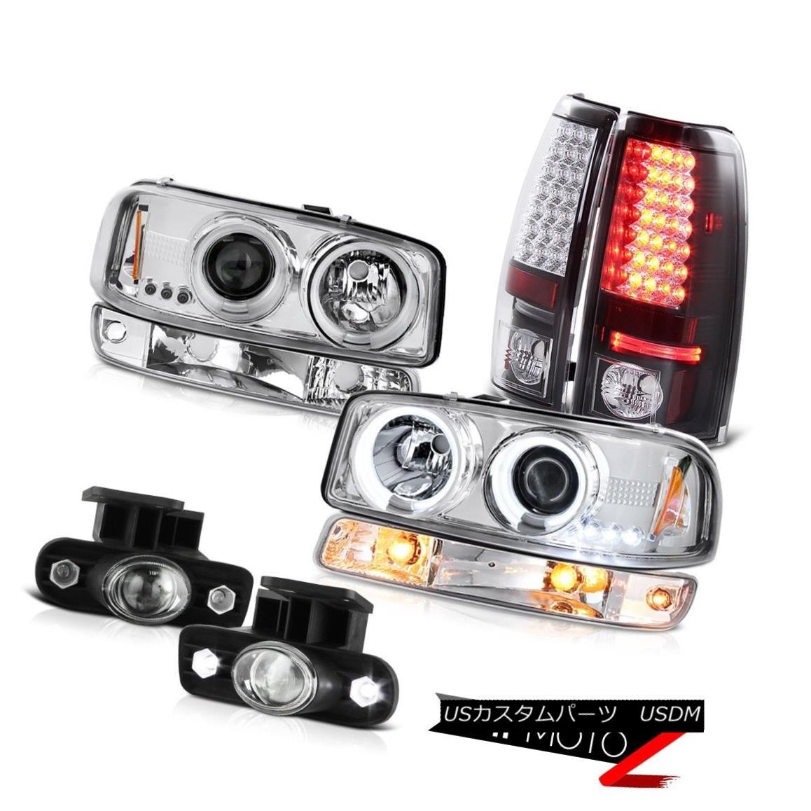 テールライト 99 00 01 02 Sierra 3500HD Fog lights black smd tail signal lamp ccfl Headlights 99 00 01 02シエラ3500HDフォグライトブラックsmdテールシグナルランプccflヘッドライト