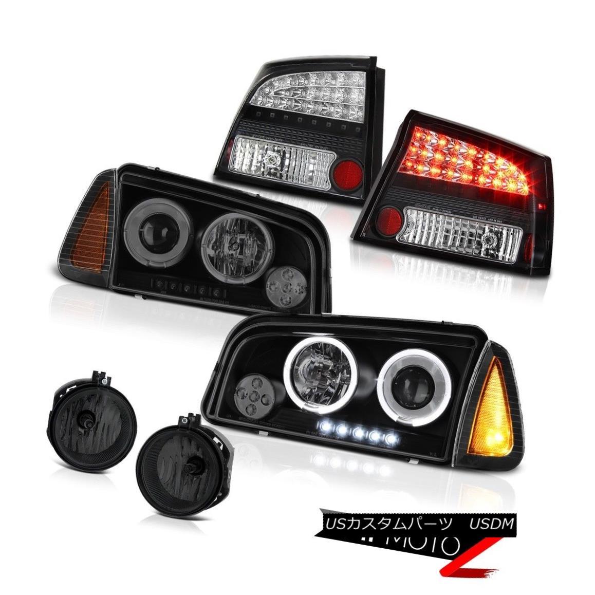テールライト 06-08 Dodge Charger RT Smoked foglamps tail brake lamps signal light headlights 06-08 Dodge Charger RTスモークフォグランプテールブレーキランプ信号ライトヘッドライト