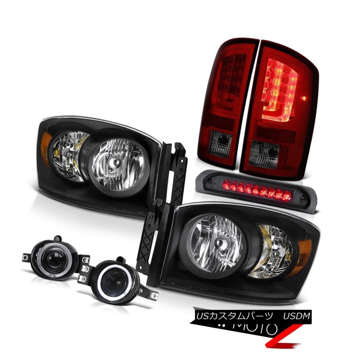 テールライト 2007-2008 Dodge Ram 1500 5.7L Tail Lights Headlamps Fog Smokey High STop Light 2007-2008 Dodge Ram 1500 5.7LテールライトヘッドランプフォグスモーキーハイSTOPライト
