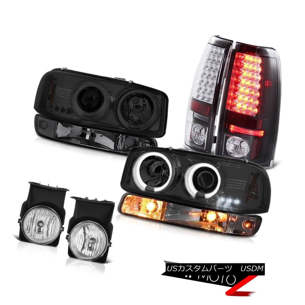 テールライト 03 04 05 06 Sierra C3 Foglights taillamps dark smoke bumper lamp ccfl headlamps 03 04 05 06シエラC3フォグライトテールランプ暗煙バンパーランプccflヘッドライト