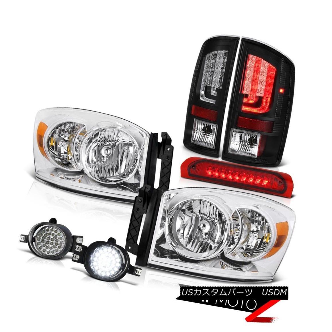 テールライト 07-08 Dodge Ram 1500 WS Tail Lights Headlights Fog Roof Cab Light Oe STyle SMD 07-08 Dodge Ram 1500 WSテールライトヘッドライトフォグルーフキャブライトOe STyle SMD
