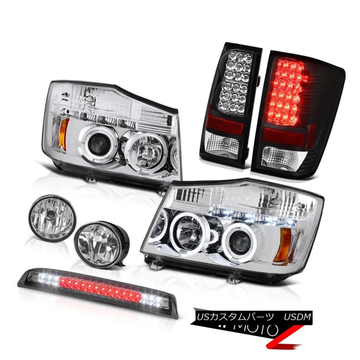 テールライト For 2004-2015 09 Titan S LED DRL Headlamp Tail Light Chrome Fog High Stop Smoke 2004年?2015年09 Titan S LED DRLヘッドランプテールライトクロームフォグハイストップスモーク