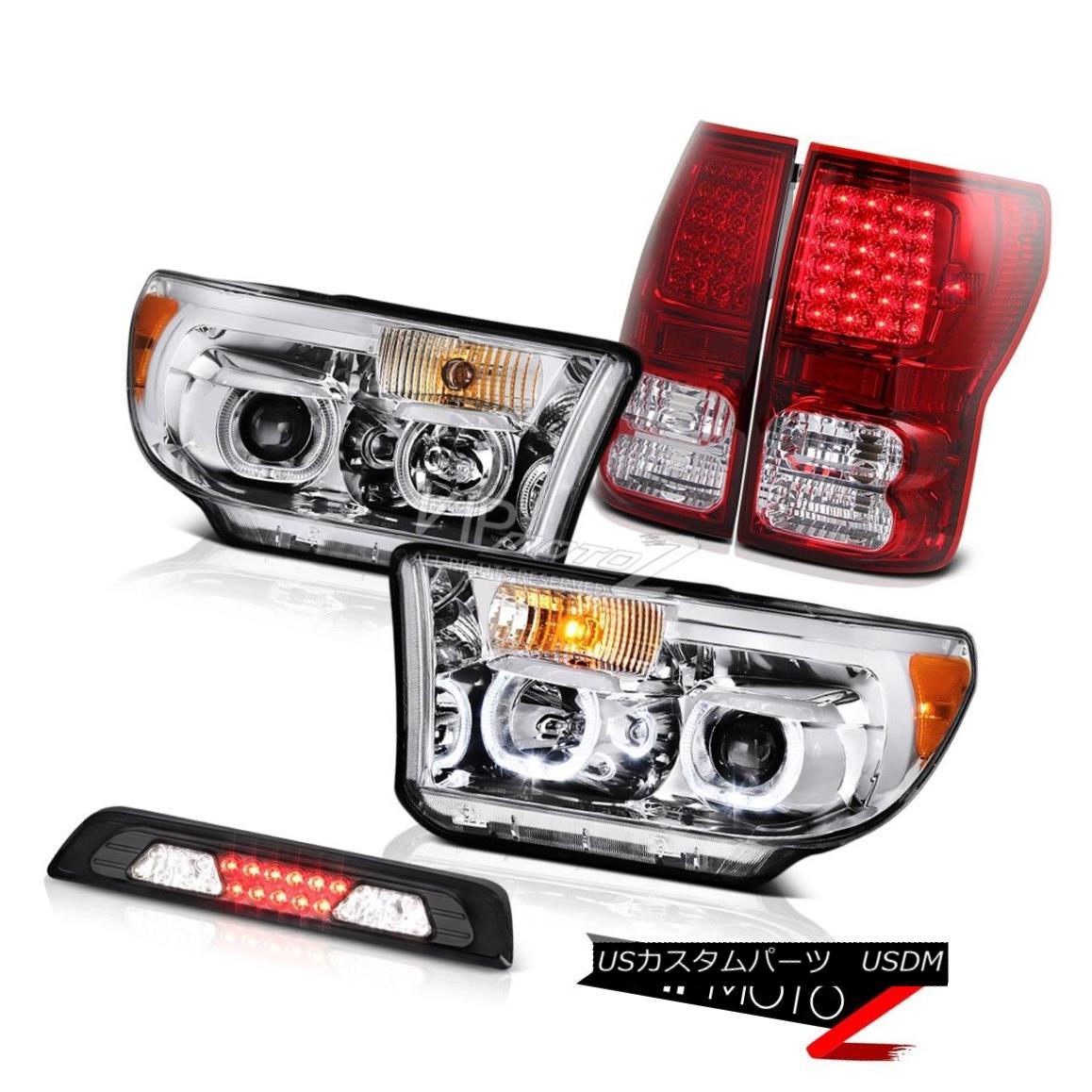 テールライト 07-13 Toyota Tundra Limited Projector Headlights Roof Brake Light Red Taillights 07-13 Toyota Tundra Limitedプロジェクターヘッドライトルーフブレーキライトレッドティール