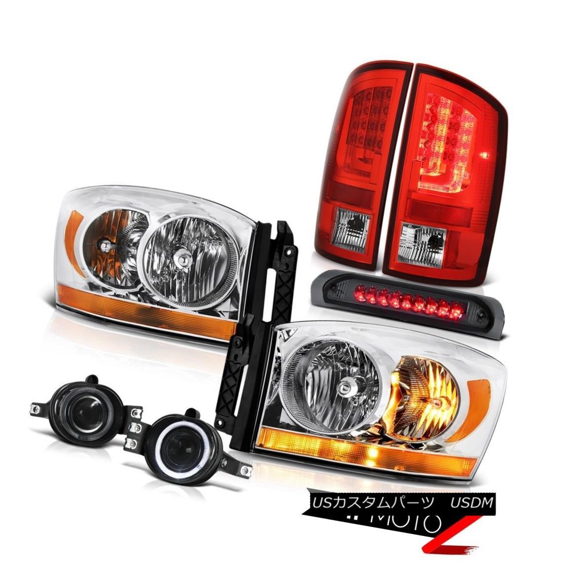 テールライト 07-09 Dodge Ram 2500 3500 SLT Tail Brake Lamps Headlights Fog Roof Lamp Assembly 07-09ダッジラム2500 3500 SLTテールブレーキランプヘッドライトフォグ屋根ランプアセンブリ