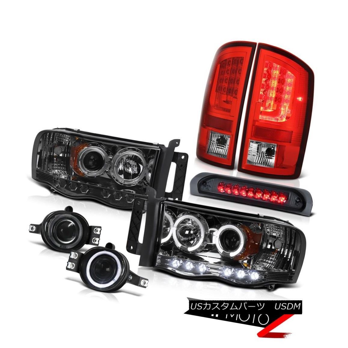 テールライト 2003-2005 Dodge Ram 3500 SLT Red Taillamps Headlights Fog Lamps High STop Light 2003-2005ダッジ・ラム3500 SLTレッド・タイルランプヘッドライトフォグ・ランプハイ・ストップ・ライト