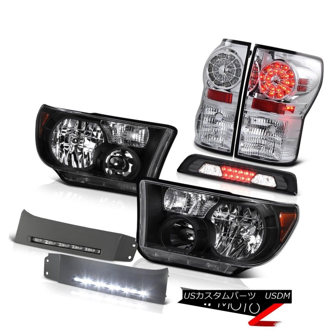 テールライト 07-13 Toyota Tundra SR5 Headlights Bumper DRL Roof Brake Lamp Tail Lights SMD 07-13トヨタトンドラSR5ヘッドランプバンパーDRL屋根用ブレーキランプテールライトSMD