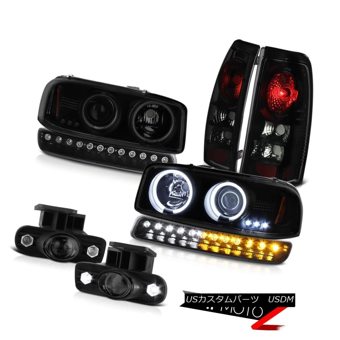 テールライト 99-02 GMC Sierra Fog lights sinister black taillamps signal lamp ccfl Headlamps 99-02 GMCシエラ・フォグ・ライト・シニスター・ブラック・テールランプ信号ランプccflヘッドランプ