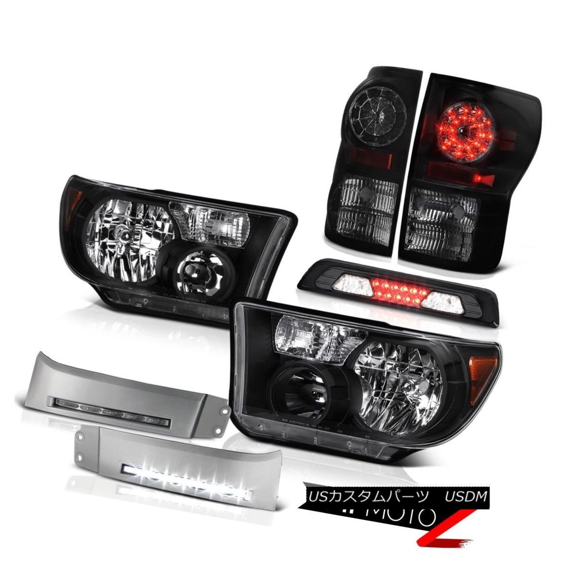 テールライト 2007-2013 Toyota Tundra SR5 Headlamps DRL Strip Smokey Roof Cab Lamp Tail Lights 2007-2013トヨタトンドラSR5ヘッドライトDRLストリップスモーキールーフキャブランプテールライト