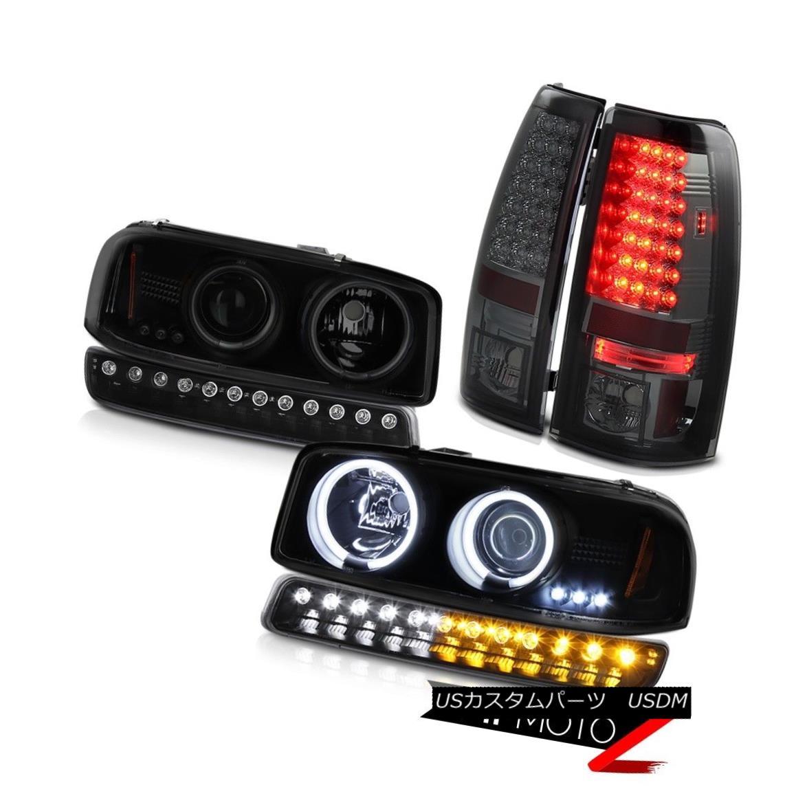 テールライト 99 00 01 02 Sierra C3 LED tail lamps raven black parking light ccfl headlights 99 00 01 02シエラC3 LEDテールランプラベンツ黒パーキングライトccflヘッドライト