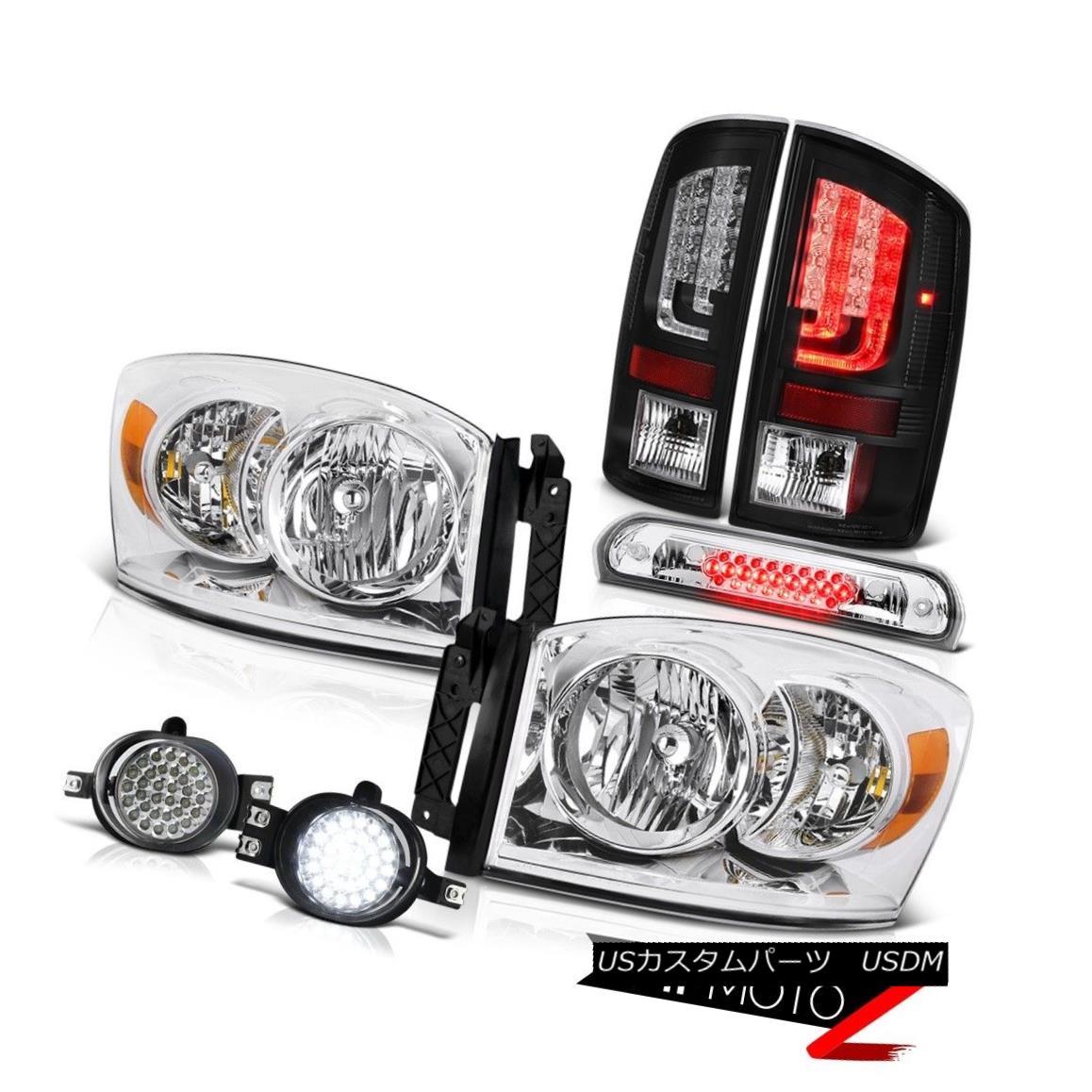 テールライト 2007-2008 Dodge Ram 1500 ST Third Brake Light Foglamps Rear Lights Headlamps Drl 2007-2008ダッジラム1500 ST第3ブレーキライトフォグランプリアライトヘッドランプDrl