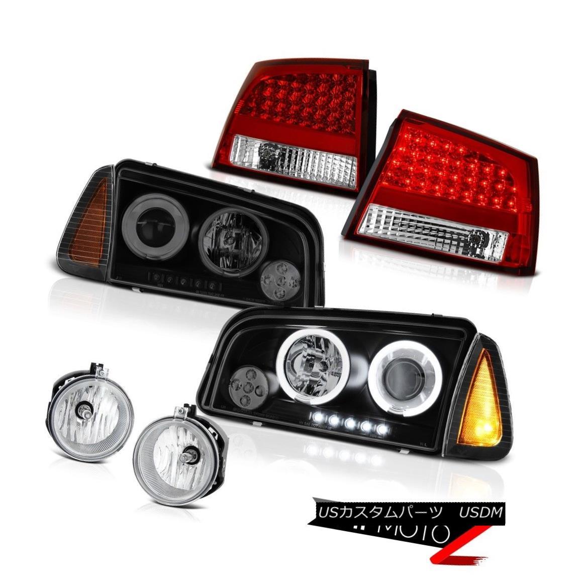 テールライト 06-08 Dodge Charger SE Euro clear foglights red taillamps signal lamp Headlights 06-08ダッジチャージャーSEユーロクリアフォグライト赤いテールランプ信号ランプヘッドライト