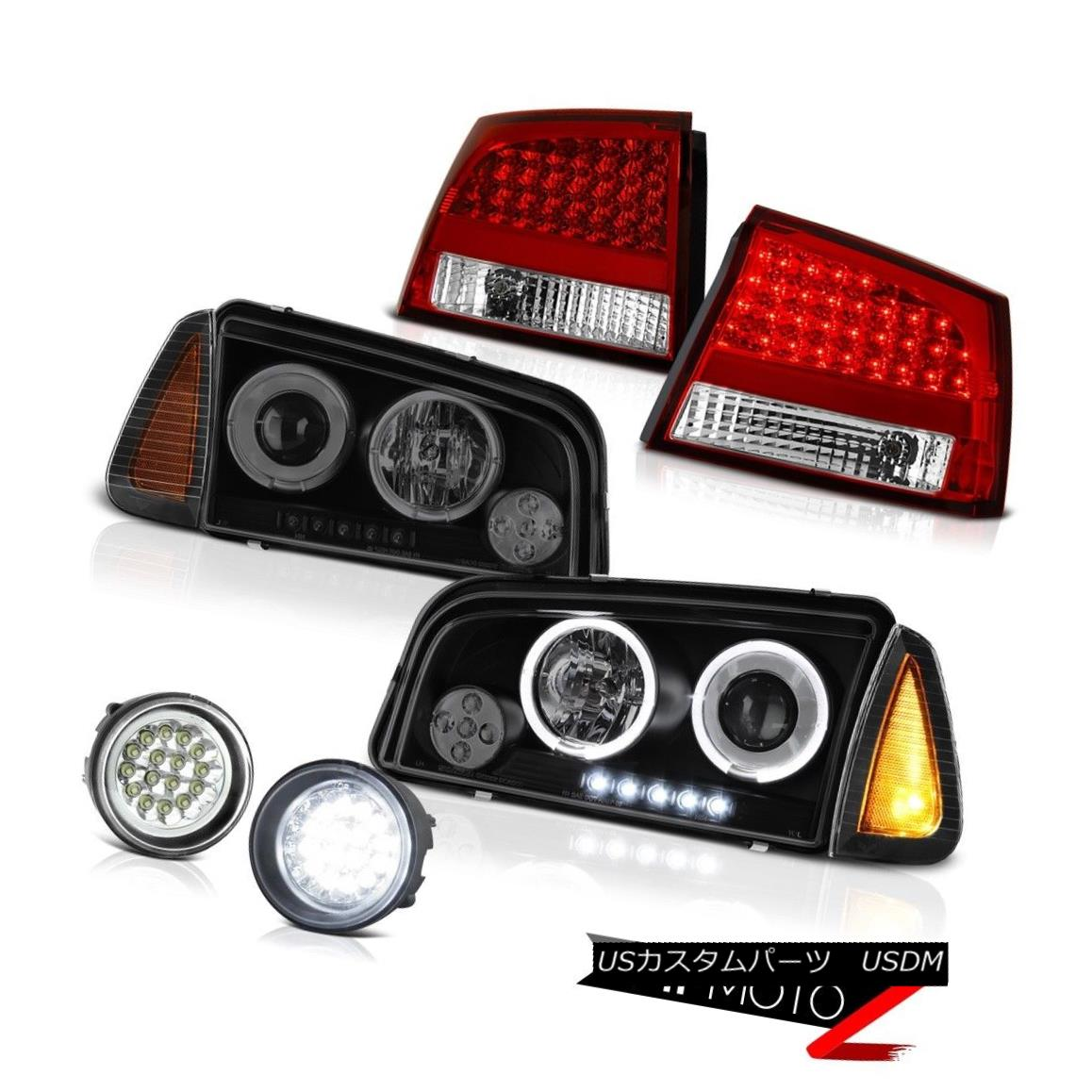 テールライト 06-08 Dodge Charger 3.5L Fog lights red clear tail brake corner lamp Headlamps 06-08ダッジチャージャー3.5Lフォグライトレッドクリアテールブレーキコーナーランプヘッドランプ