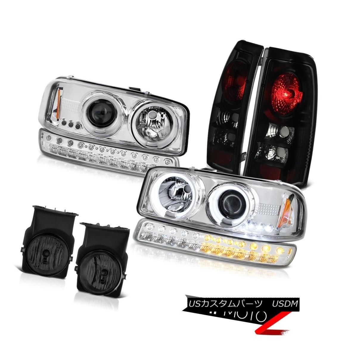 テールライト 03-06 Sierra SLE Smokey Foglights Tail Brake Lights Bumper Light CCFL Headlights 03-06シエラSLEスモーキーフォグライトテールブレーキライトバンパーライトCCFLヘッドライト
