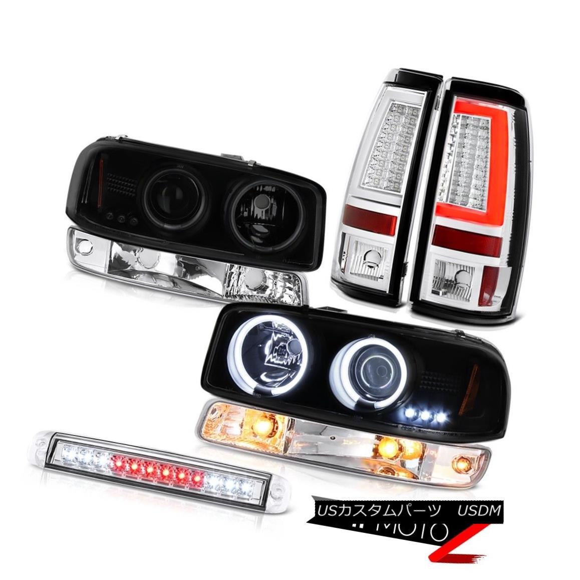 テールライト 99-06 Sierra SL Tail Lamps Roof Brake Light Signal CCFL Headlights LED Halo Rim 99-06 Sierra SLテールランプルーフブレーキライト信号CCFLヘッドライトLED Halo Rim