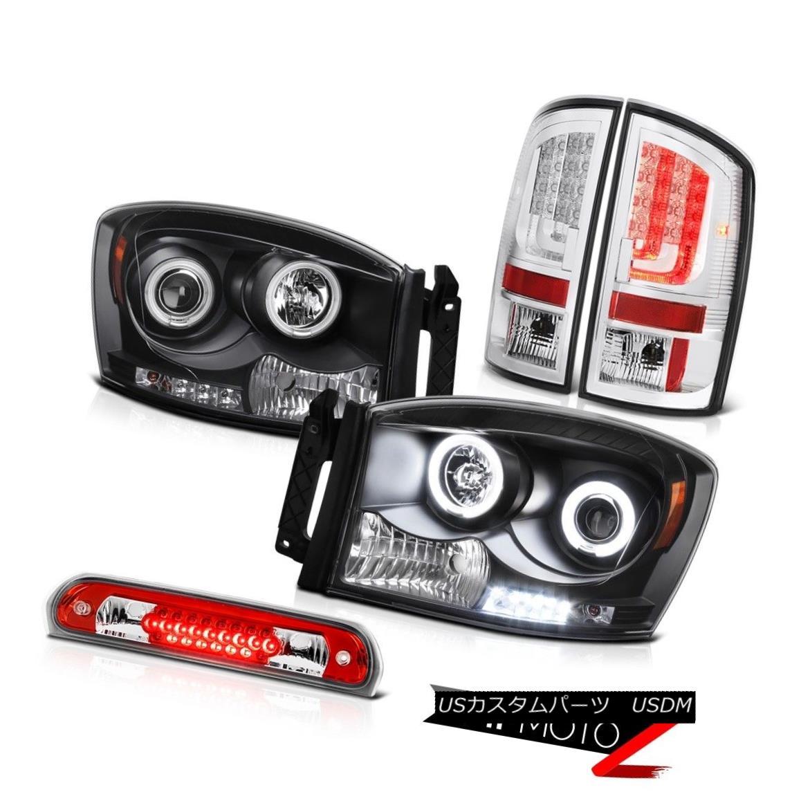 テールライト 2006 Ram 4.7L Taillamps Black Headlamps Third Brake Lamp Tron Tube LED NeweST 2006ラム4.7Lタイルランプブラックヘッドランプ第3ブレーキランプトロンチューブLED NeweST