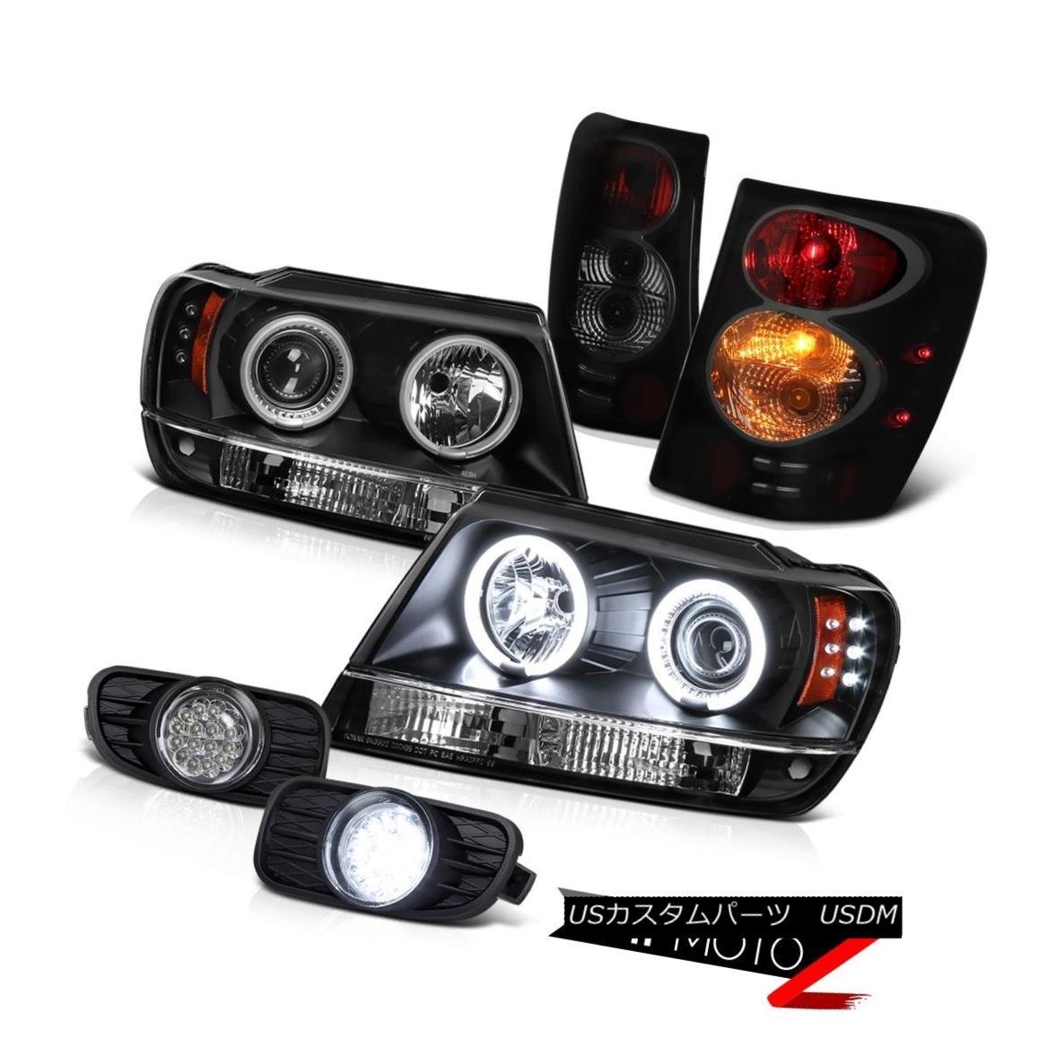 テールライト 1999-2003 Smoke Black Rear Tail Light CCFL Halo Ring Headlight Fog Driving Lamp 1999-2003スモークブラックリアテールライトCCFLハローリングヘッドライトフォグ駆動ランプ
