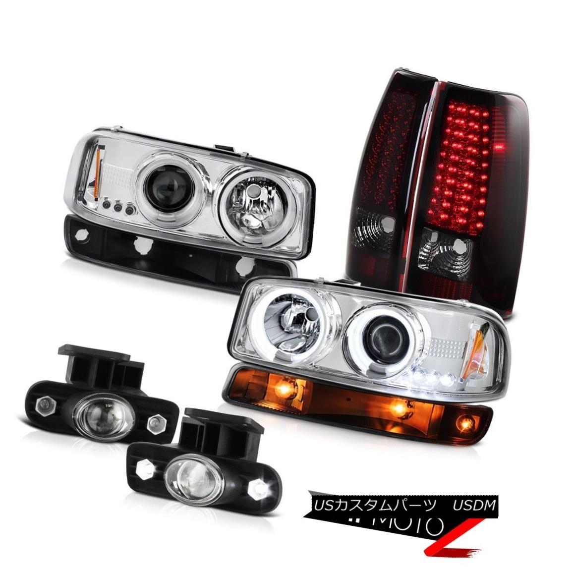 テールライト 1999-2002 Sierra SLE Foglights rear smd brake lamps signal light ccfl headlights 1999-2002シエラSLEフォグライトリヤおよびブレーキランプ信号光ccflヘッドライト