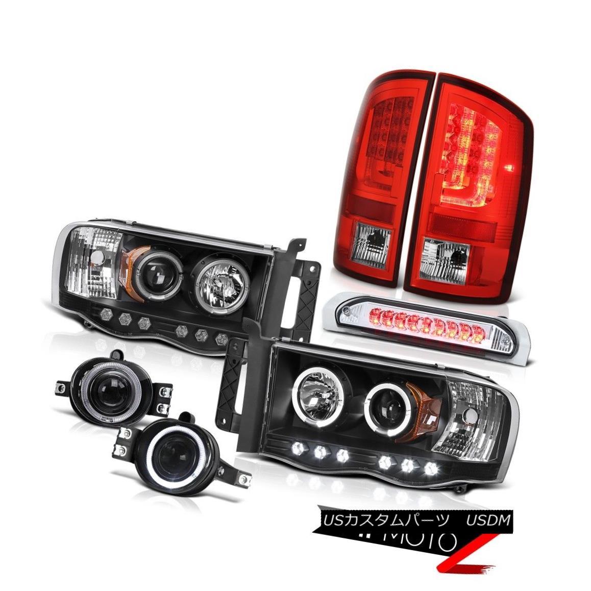 テールライト 2003-2005 Dodge Ram 3500 ST Red Taillights Headlights Foglights 3RD Brake Lamp 2003-2005 Dodge Ram 3500 STレッドティアライトヘッドライトフォグライト3RDブレーキランプ