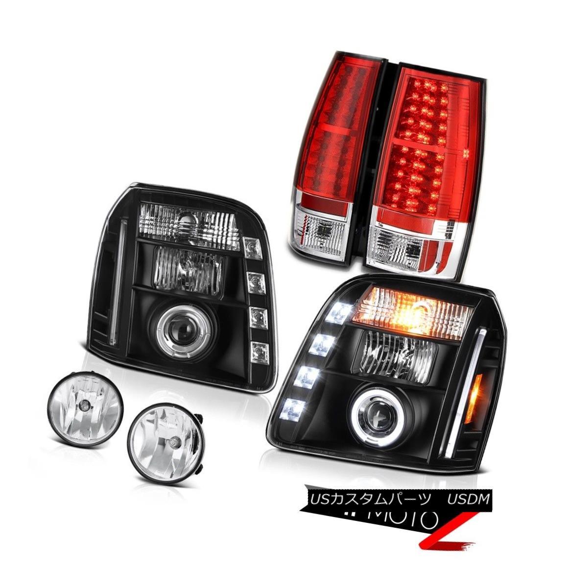 テールライト 07-14 GMC Yukon Denali Chrome Fog Lamps Red Tail Brake Inky Black Headlights LED 07-14 GMCユーコンデナリクロームフォグランプレッドテールブレーキインキブラックヘッドライトLED