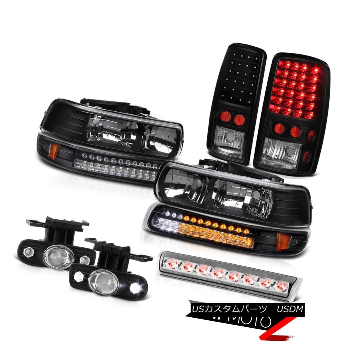 テールライト 00-06 Chevy Suburban LT Headlights parking lamp taillamps foglamps 3rd brake 00-06シボレー郊外LTヘッドライトパーキングランプテールランプフォグランプ第3ブレーキ