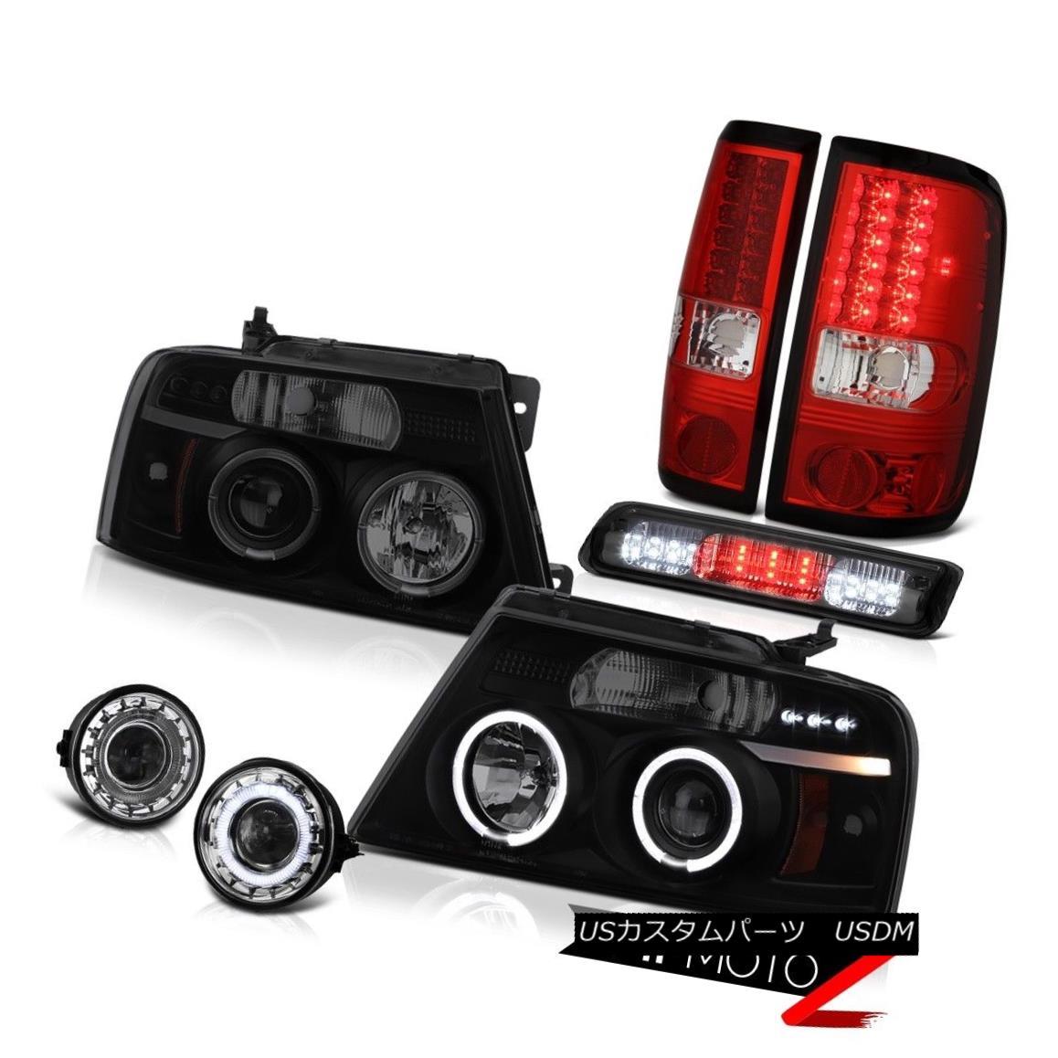 テールライト 06-08 Ford F150 STX Fog Lights Smoked Roof Brake Light Headlamps Tail Projector 06-08 Ford F150 STXフォグライトスモークルーフブレーキライトヘッドランプテールプロジェクター