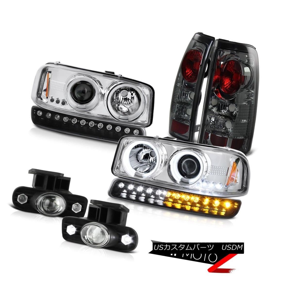 テールライト 99-02 Sierra SLE Fog lamps titanium smoke taillamps signal light ccfl headlights 99-02シエラSLEフォグランプチタン煙テールランプ信号光ccflヘッドライト