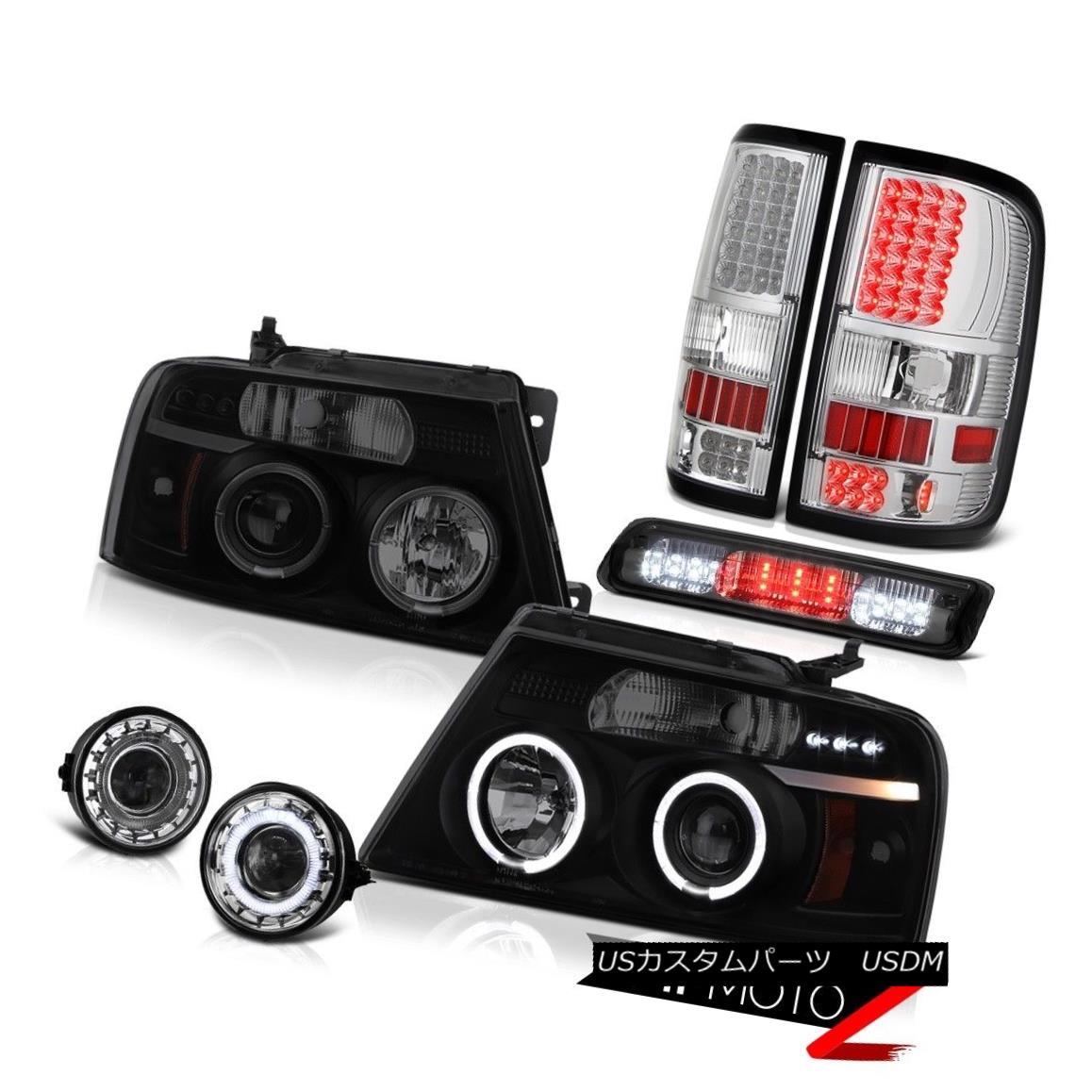 テールライト 06-08 Ford F150 Lariat Chrome Fog Lamps 3rd Brake Lamp Rear Headlights Halo Ring 06-08 Ford F150 Lariatクロームフォグランプ3rdブレーキランプリアヘッドライトHalo Ring