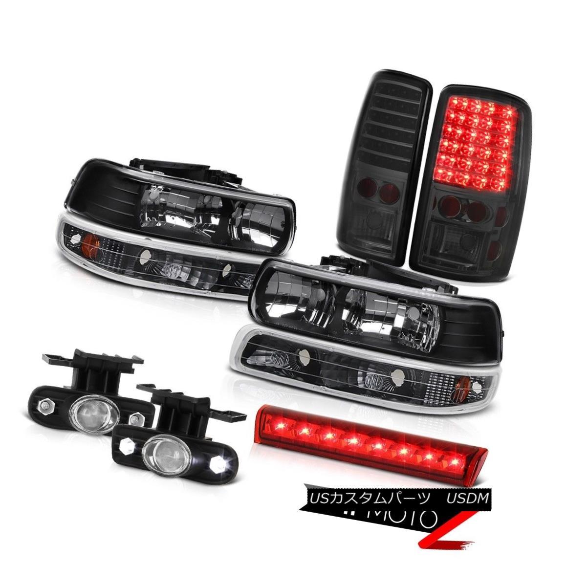 テールライト 00-06 Chevy Tahoe LS Red 3rd brake lamp foglights rear lights parking Headlights 00-06 Chevy Tahoe LSレッド第3ブレーキランプフォグライトリアライトパーキングヘッドライト
