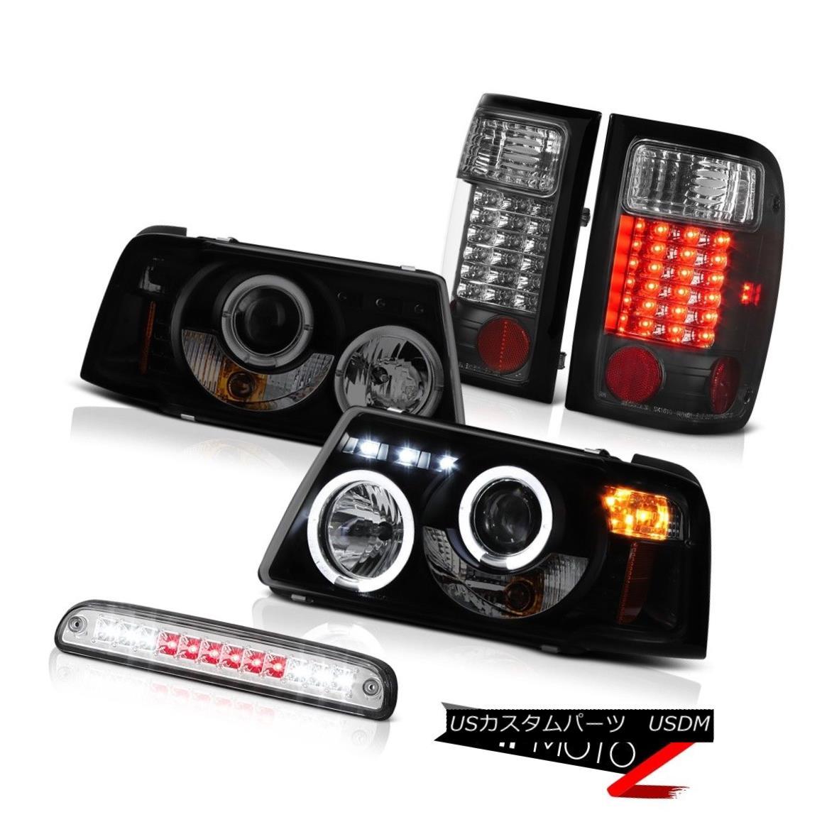 テールライト Sinister Black Headlight Brake LED Light Euro Third 2001-2011 Ford Ranger FX4 懐疑的なブラックヘッドライトブレーキLEDライトユーロ2001年から2011年のフォードレンジャーFX4