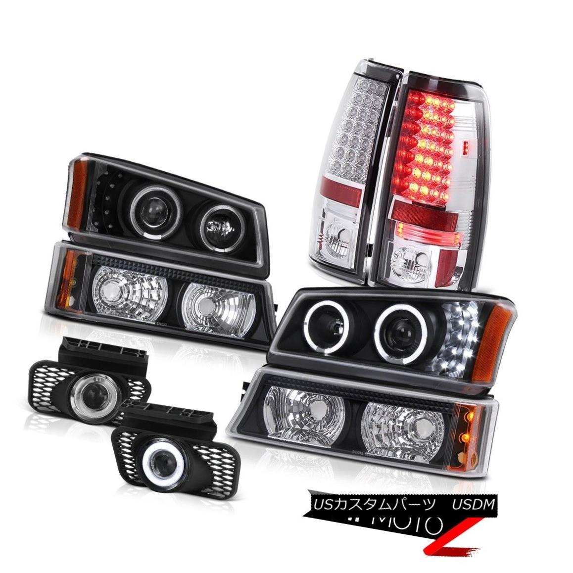 テールライト LED DRL Halo Headlight Black Parking LED Tail Light Foglight 2003-2006 Silverado LED DRLハローヘッドライトブラックパーキングLEDテールライトFoglight 2003-2006シルバラード