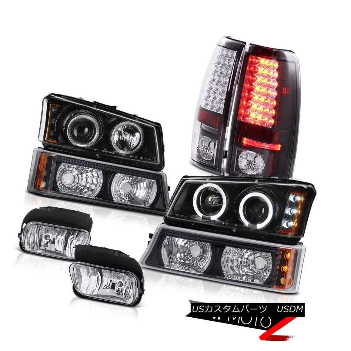 テールライト Dual Halo Rim Headlight Black Bumper LED Taillamp Foglamp 2003-2006 Silverado LT デュアルHaloリムヘッドライトブラックバンパーLED Taillamp Foglamp 2003-2006 Silverado LT
