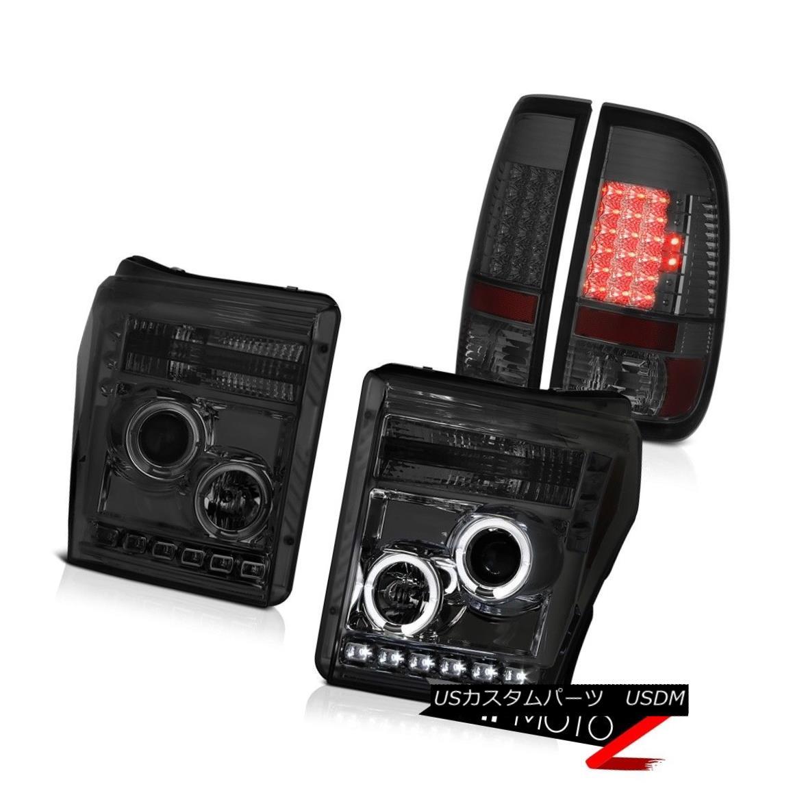 テールライト 11 12 13 14 15 16 F250 Xlt Smokey Parking Brake Lights Projector Headlamps LED 11 12 13 14 15 16 F250 Xltスモーキー駐車ブレーキライトプロジェクターヘッドランプLED