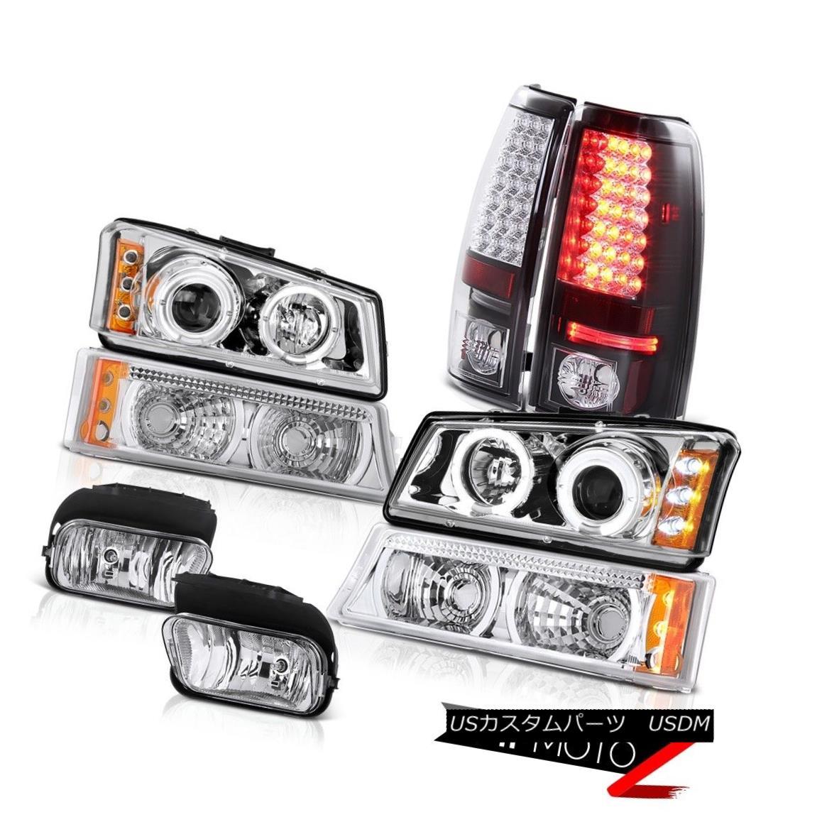 テールライト Angel Eye Projector Parking Brake Lights Driving Foglamp 2003 2004 Silverado エンジェルアイプロジェクターパーキングブレーキライトFoglamp 2003 2004 Silverado