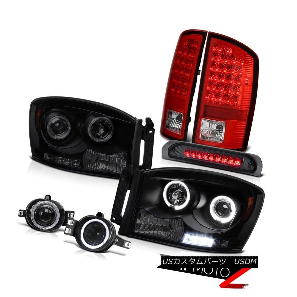 テールライト 2X Halo LED Projector Headlamp Tail Light Foglights Third Brake Lamp Sport 07 08 2X Halo LEDプロジェクターヘッドランプテールライトフォグライトThird Brake Lamp Sport 07 08
