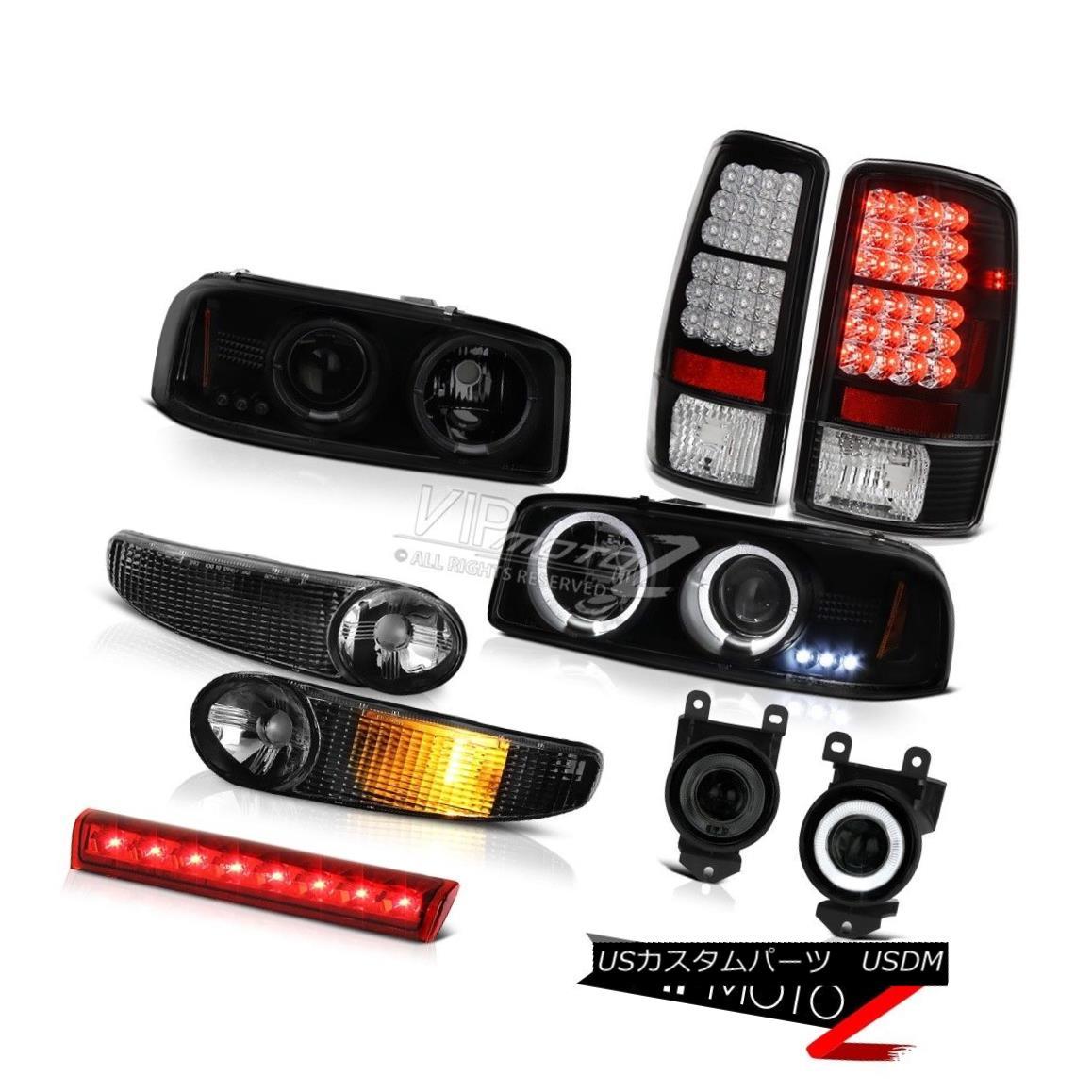 テールライト Halo LED Headlight 2001-2006 Yukon Parking SMD Tail Lamps Bumper Red Third Brake Halo LEDヘッドライト2001-2006ユーコンパーキングSMDテールランプバンパーレッド第3ブレーキ