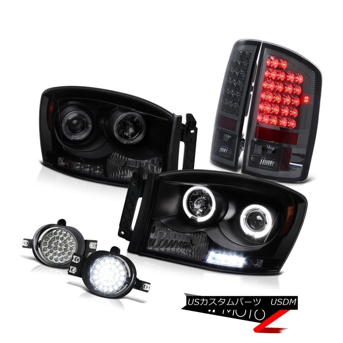 テールライト Halo Ring LED Headlights Signal Brake Tail Lights LED Fog Ram Turbo Diesel 07 08 Halo Ring LEDヘッドライト信号ブレーキテールライトLED Fog Ramターボディーゼル07 08